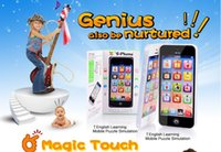Wholesale 2016 New Kids Child Mobile Phone Toys Y Phone Simulation Learning Phone Children English Educational Touch Screen With USB Cable For T