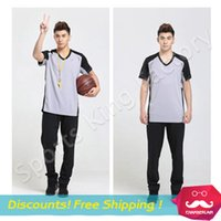 basketball referee pants - 2017 Genuine breathable absorbent basketball jersey Referee clothing T shirt pants Training suit professional Match referee jersey