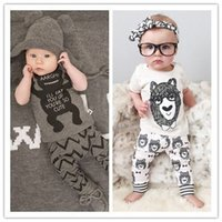 Wholesale Hot retail whoelsale new children clothing kids boys Little Monster short sleeved suit baby infants set cotton