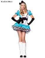 alice in wonderland costume adult - Alice in Wonderland Costume Sexy Blue Maid Costume Adult Fancy Dress Cosplay sexy costumes Holloween