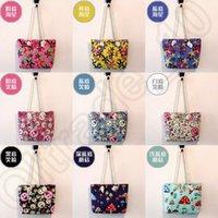Wholesale 100PCS LJJH1358 Emoji print cotton canvas beach bags black white stripe tote bag fashion stripe design tote bag custom cotton handle bags