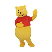 Wholesale Cartoon Character Costume Bear - Winnie the Pooh Bear Mascot Costume Cartoon Character Adult Sz 100% Real Picture Free Shipping Longteng