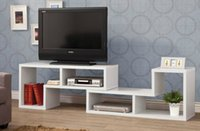 Wholesale Living Room White Console and Bookcase Combination TV Stand