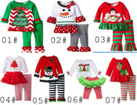 Cheap Girl girls christmas 2pc set Best Summer 100% Cotton elk outfit