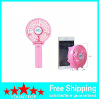 Wholesale Summer Cooler Cooling Fan Adjustable Hand Held Electric Air Cooler Rechargeable Portable Handle Folding USB Mini Fan