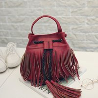 Wholesale 2016 New Designer Fringe Bag Small Motorcycle Leather Women Messenger Bags Crossbody Shoulder Bags Tassel Retro Bag DHL