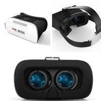 Wholesale New VR BOX D glasses Virtual Reality D Glasses D helmet focusing glasses Professional Google Cardboard for inches cellphone