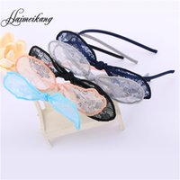 barrett clip - Fashion Women Girls Rim Cute Cotton Lace Hair Bows Headband Barrett Clips For Hair Accessories