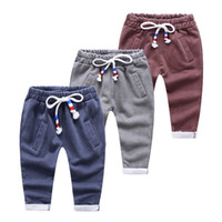 Wholesale 2016 boys clothing boys clothes kids clothing children all cotton terry water sports pants panty