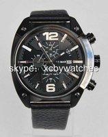 advanced auto batteries - New DZ4223 Advanced Black Dial Black Steel Auto Date Multiple Time Zones Quartz Chronograph Mens Watch