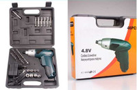 Wholesale 4 v cordless electric screwdriver in rechargeable electric screwdriver set
