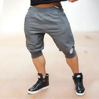 Wholesale Body Engineers Quality sports cotton Muscle Brothers and fitness jogging shorts shorts Slim thin section breathable print
