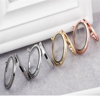 Wholesale Floating Lockets mm Alloy Plain Large Magnetic Round Circle DIY Floating Charms Lockets Jewelry Accessories
