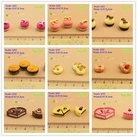 Wholesale 1 Scale Dollhouse Miniature Food Toy Hamburger Cake Donut Accessory Doll house accessories Mini Decoration item