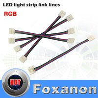 Wholesale Foxanon Brand pin RGB Led Strip No Soldering Double Connector Clip Cable Led Tape Extension Wire For RGB Strip light