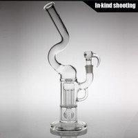 clear glass - Sovereignty Glass Pint Size Natty Neck Pillar with clear Bridge Gridded Imperial Perc bongs mm percolator glass bongs bubbler oil rigs