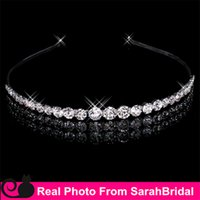 Wholesale Bohemian Hair Accessories Bridal Jewelry Crystal Bling Bling Artificial Wedding Headbands Cocktail Party Prom Bridesmaid Headpieces Cheap