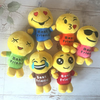 Unisex anime love movies - 12CM Emoji Plush Toys Emoji Stuffed Dolls Happy Smile Love Expression Dolls Kids Best Friend Emoji Figures Plush Toy Plush Pandent XMAS Gift