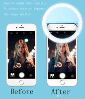 Wholesale Clip on led selfie ring light circle round shape selfie led flash light spotlight for mobile camera ipad ipod
