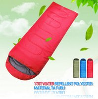 bags for tents - High quality outdoor camping sleeping bag for spring autumn adult children envelope hooded cotton sleep bag low price on sale