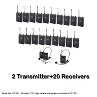Wholesale NEW Tour guiding training Takstar UHF UHF frequency Wireless Tour Guide System m Operating Range Transmitter Receivers