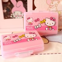Wholesale hello kitty Layer Portable7 Slots seal folding Pill Cases Jewelry candy Vitamin Medicine Pill Box Storage Case Container Box
