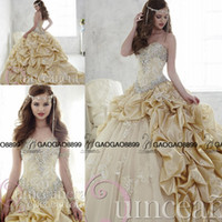 Wholesale High Quality Masquerade Ball Gowns Appliques Beaded Crystal Quinceanera Dresses Ruffle Lace up Back Sweet Dresses