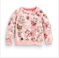 Wholesale 2016 Autumn Winter New Girls Cartoon Animals Sweatshirt Fashion Girl Long Sleeve T shirt Kids Cotton Sweaters Children Casual Pullovers