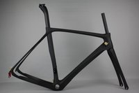 Wholesale 2017 new Full Carbon Fiber Road Bike Frame fixie Fixed Gear Track bike K Carbon frame cm with free fork pad