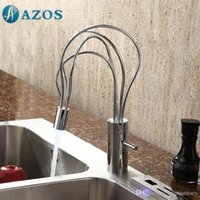 Wholesale AZOS Bathroom Basin Tap LED Light Color Changing Bird Nest Chrome Single Hole Hot Cold Mixer Toilet Sink Faucet MPDKZ008