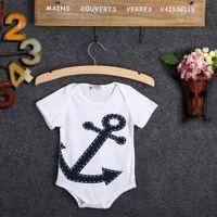 baby sailor outfit - 2016 pieces Newborn NEW Baby Kids Boy Girl Sailor Anchor Suit Grow Outfit Romper Pants Jumpsuit