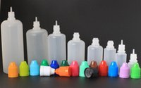 Wholesale eCigarette E Liquid Bottle PE Needle Empty Plastic Dropper Translucent Bottles Childrenproof Cap Thin Long Tips ml ml ml ml