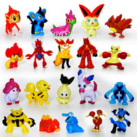 animal toy collections - 144pcs set Hot New Cute Monster Mini figures toys Random brinquedos PVC Collection for christmas gift brinquedos