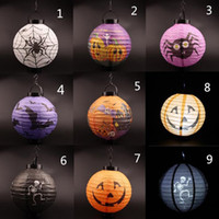 Wholesale Halloween Pumpkin and Ghost Lantern Haunted Fold Lampion Halloween Decoration Party Decorations Yard Hanging Decor high quality toycity