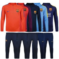 barcelona soccer jersey long sleeve - Top quality jerseys Barcelona Football Training suit long sleeve soccer Soccer tracksuit Sets whit pants ET
