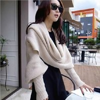 Wholesale 2016 Special Korean Women winter scarf lovely double thick wool scarves with gloves