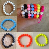 best bar foods - bracelet femme Rhinestone Beads Charm Bracelets Stretch Stone Fashion Jewelry Best Friend Candy Color