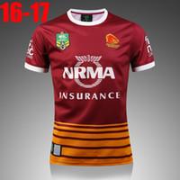 Wholesale Best Thai quality New BRISBANE BRONCOS rugby jerseys men BRONCOS best rugby shirts SIZE S XL