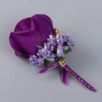 Wholesale Bridesmaid Rose Corsage Gentleman Rose Boutonniere Wedding Flower Groom Groomsman Bouquet JM0180 smileseller