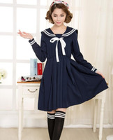 beautiful uniforms - Cosplay New Beautiful Fashion Brief Solid Sailor Suit Japanese School Uniforms Preppy Style Dress