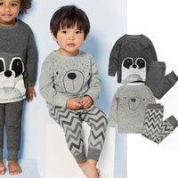 american classics clothing - 2016 Kids pajamas Baby boy pajama sets Children homewear clothing Classic bear gray sleepwear Autumn winter cotton Quality