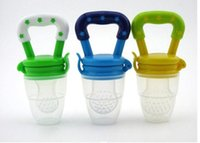 baby food juice - Size Silicone Baby Food Nipple Feeder Fresh Juice Pacifier Safe Baby Bottles Pacifier Food Feeder Tool For Baby Children