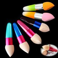Wholesale New Womens Striking Cosmetic Makeup Foundation Liquid Cream Concealer Sponge Lollipop Brush Maquillage TOOL Random colour MU