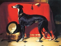 albert paintings - Eos A Favorite Greyhound of Prince Albert Edwin Landseer Handpainted Art oil Painting Canvas Museum Quality coustomized size Available blue