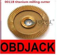 australia titanium - High speed steel double side angles B titanium milling cutter for WenXing key cutting machine C D E1 F locksmith
