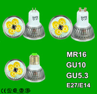 mr16 9w - Dimmable GU10 E27 MR16 E14 GU5 B22 W W W Led Lamp V V Spotlight Led Bulbs Warm Pure Cool CE UL