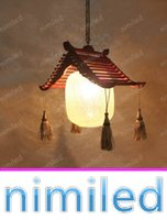 antique wood chandelier - nimi1118 Chinese style Rural Garden Vintage Wood Dining Antique Chandelier American Village Cafe Bar Balcony Pendant Lamps Lights Lighting