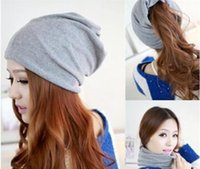 Wholesale 3 Colors Cotton Women Beanies Caps Spring Women Beanie Hat For Women Caps Way To Wear Bonnet