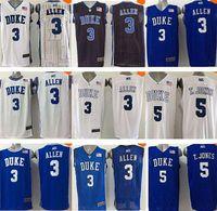 Wholesale 2016 nEW Duke Blue Devils Mens Basketball Jerseys Tyus Jones t jones t jones Grayson Allen Best Quality Size XXS XL