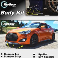Wholesale For Hyundai Veloster Front Skirt Deflector Spoiler Bumper Lip Lips For Car Tuning The Stig Recommend Body Kit Strip